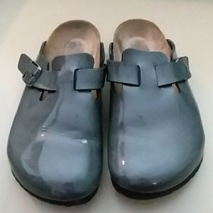 Birkenstock Patent Leather Boston Clogs